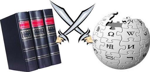 encyclopedia britannica vs wikipedia