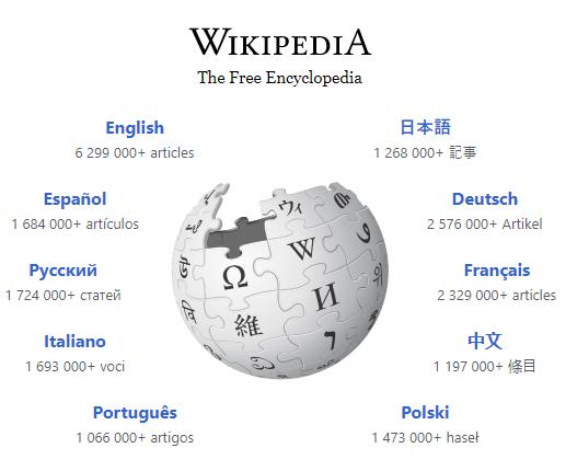 wikipedia languages